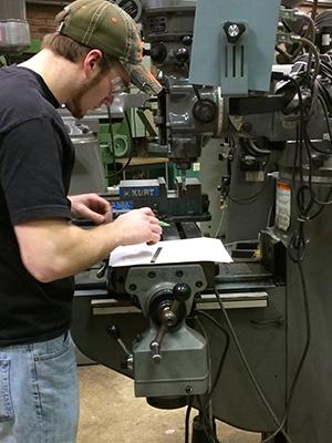 Student working in MAT2 program